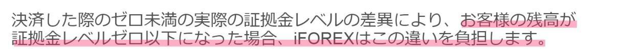 iforex ゼロカット サポート問い合わせ 回答