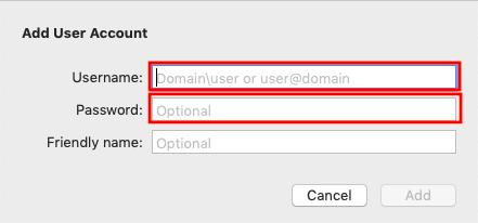 ユーザー名と初期パスワードを入力します