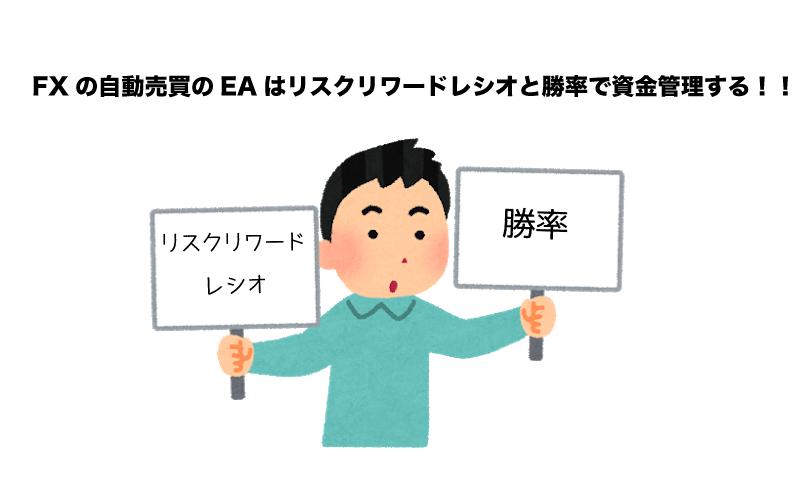 FX 自動売買(EA) リスクリワードレシオ 勝率