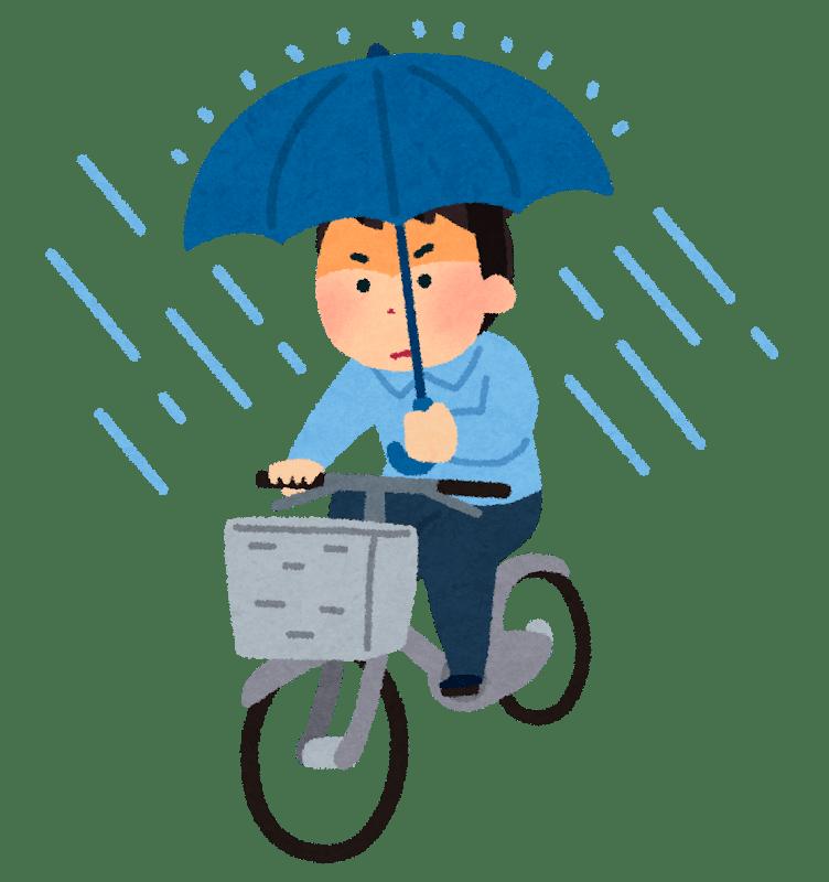 傘をさして頑張るサラリーマン投資家
