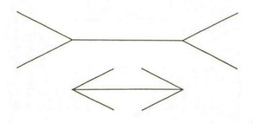 ミュラー・リヤー錯覚の図