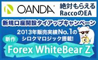 OANDA JAPAN×タイアップキャンペーン☆WhiteBear Z EURJPY☆プレゼント