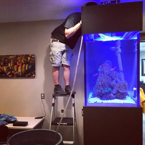 Cleaning Tall Aquarium
