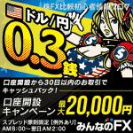 トレイダーズ証券 みんなのFX キャンペーン キャッシュバック 2万円(2016年12月31日(土)まで)