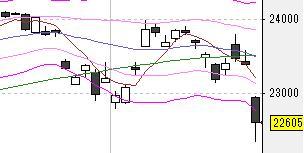 今日の株式市場(2/25)