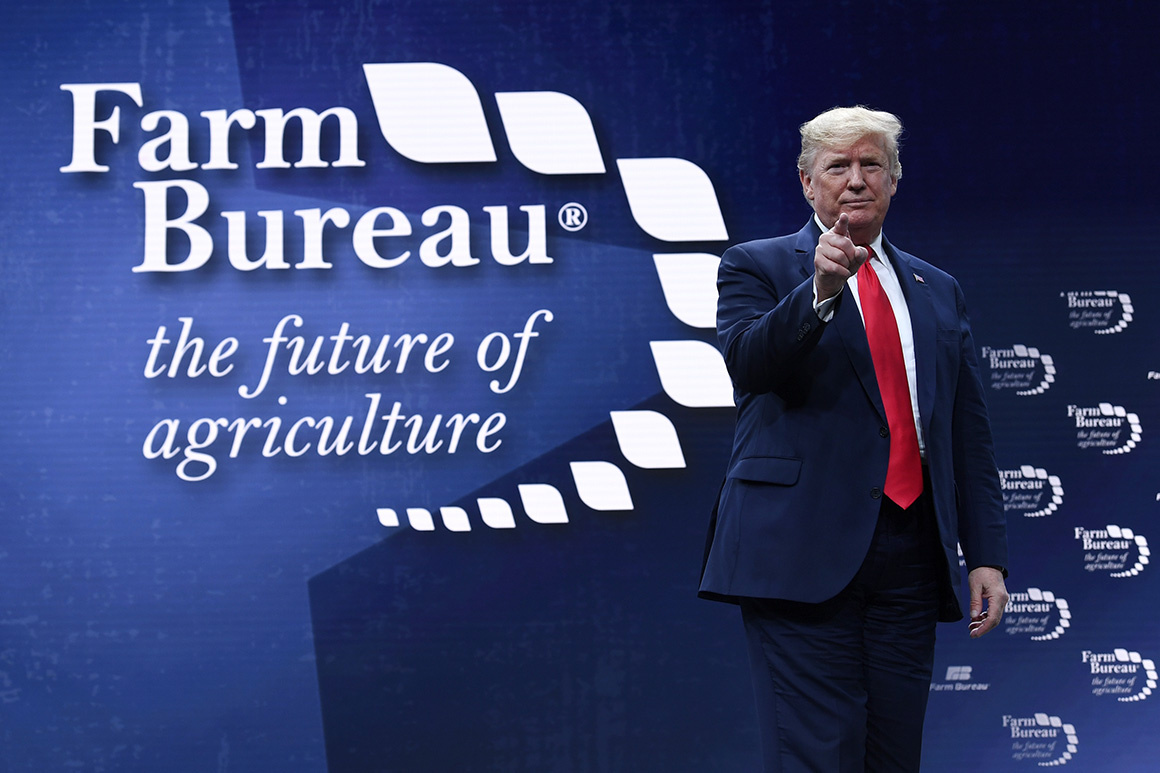 Trump touts guarantees after painful 12 months for farmers