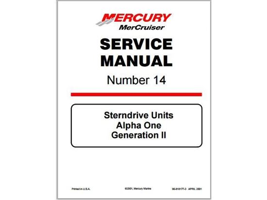 Mercruiser Alpha One Gen 2 Service Manual, Part Number 90