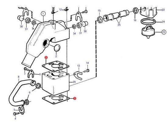 Volvo Penta 2001 2002 2003 Exhaust Elbow Gasket, Part
