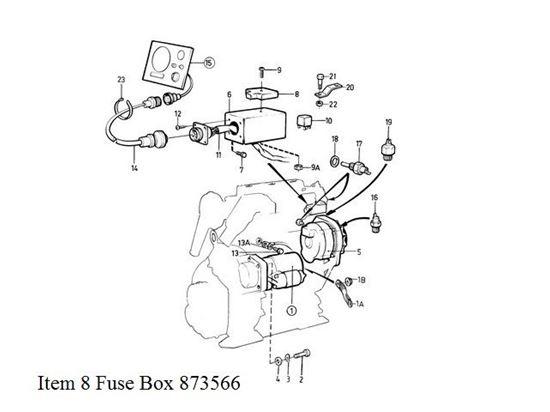 Volvo Penta Fuse Block Part Number 873566. FYB Marine
