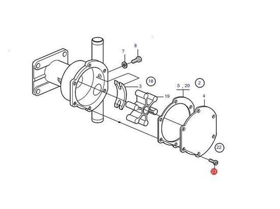 Volvo Penta Sea Water Pump Screw Kit, Part Number 21951302