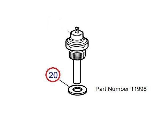 Volvo Penta temperature sender gasket, Part Number 11998
