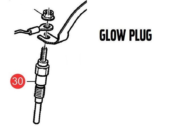 Volvo Penta D1-13, D1-20, D1-30 and D2-40 Series Glow Plug