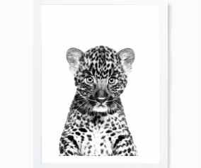 Choose Your Size Digital Leopard Home Decor Canvas Print Home Garden Posters Prints