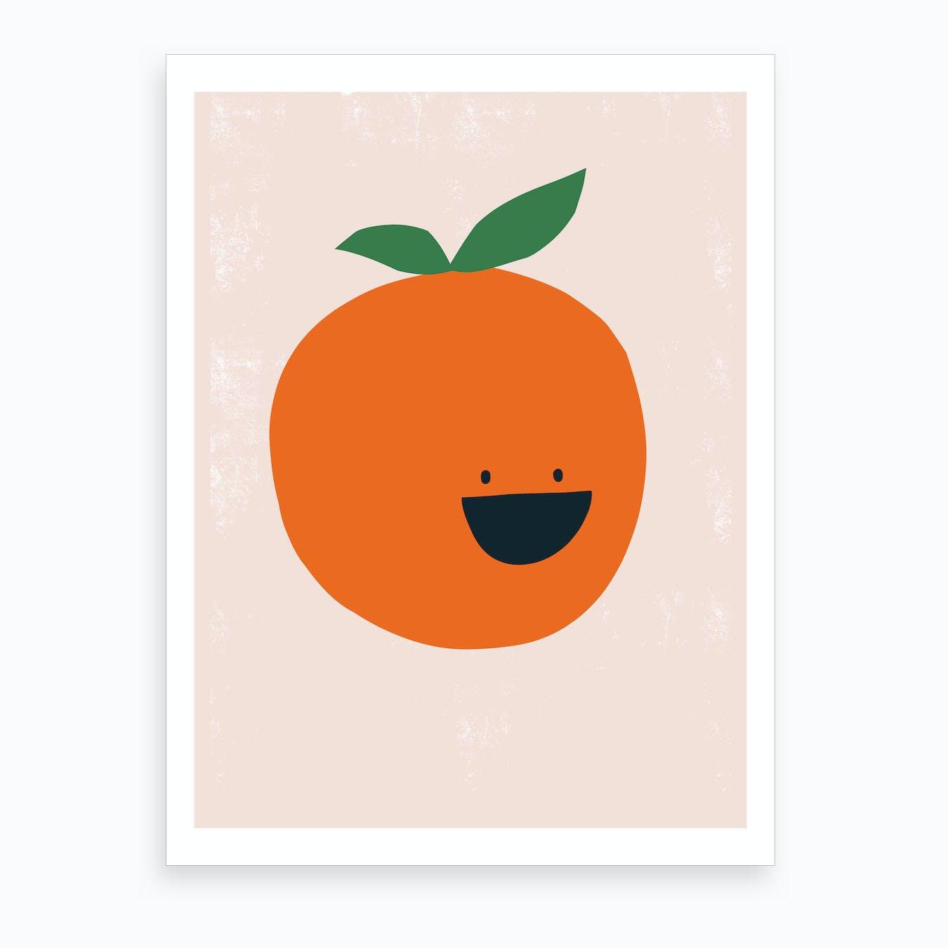 kitchen art prints create your own orange print by sira lobo fy