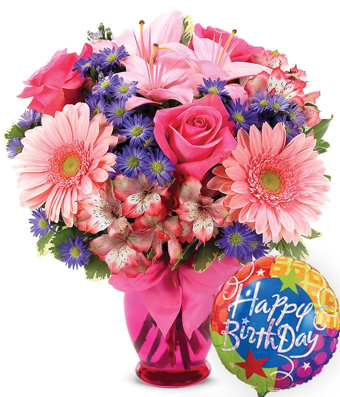 pink delight bouquet birthday
