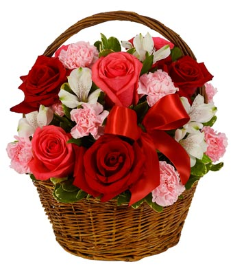Romantic Rose Basket At From You Flowers