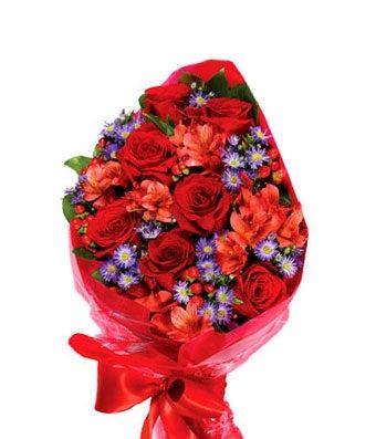 romantic rose hand tied