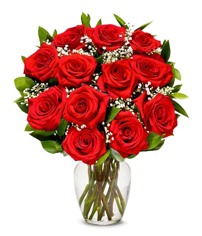 One Dozen Long Stemmed Red Roses At From You Flowers