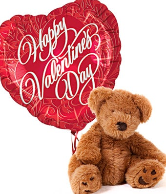 Valentines Day Teddy Bear And Balloon At From You Flowers