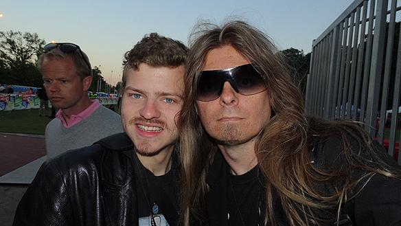 På plats: Charlie Källberg och Peter Ahlborg. Foto: Privat