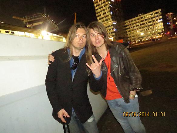 Peter Ahlborg och Markus Krunegård. Foto Charlie Källberg