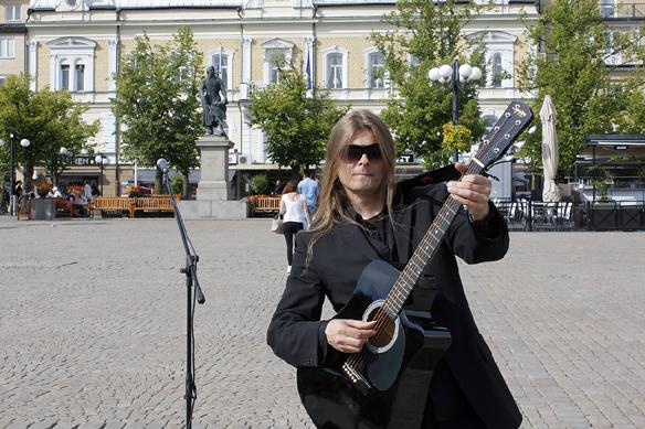 Peter Ahlborg i Motala. Foto: Hasse Sukis