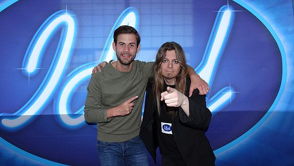 Pär Lernström och Peter Ahlborg vid audition till Idol 2014 i Göteborg. Foto: Privat