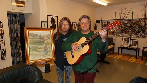 Igår 2014-10 13 besökte Peter Ahlborg galleriet Andarve Image Gallery. I samband med det fick han en tavla av ägaren Anders Andarve.