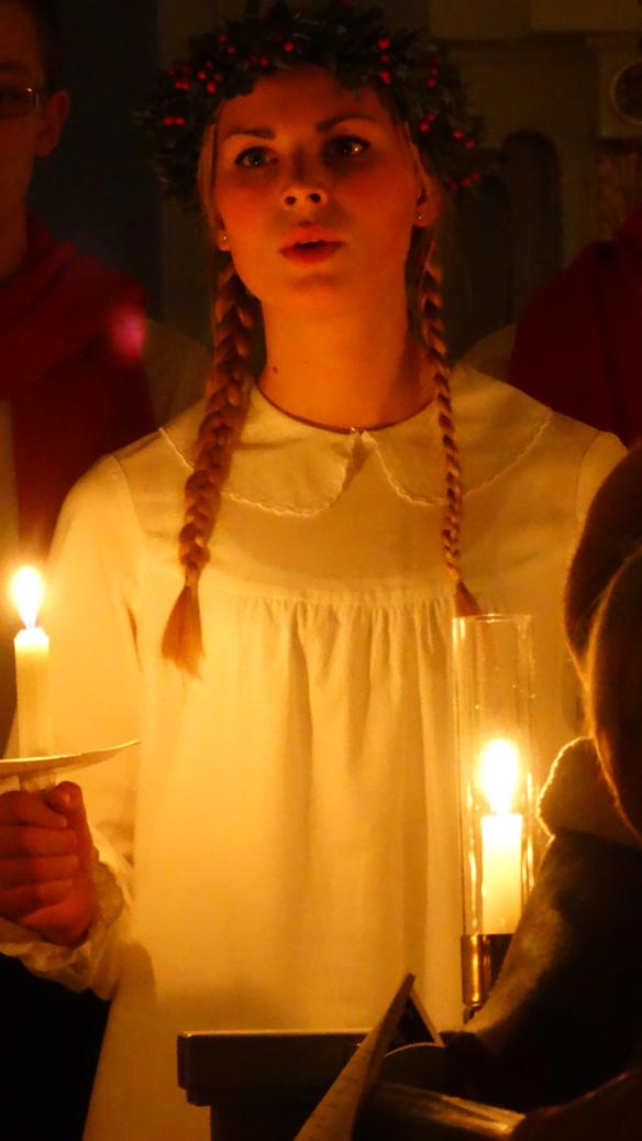 Många vackra röster sjöng julsånger med stor känsla i domkyrkan. Foto:   Peter Ahlborg