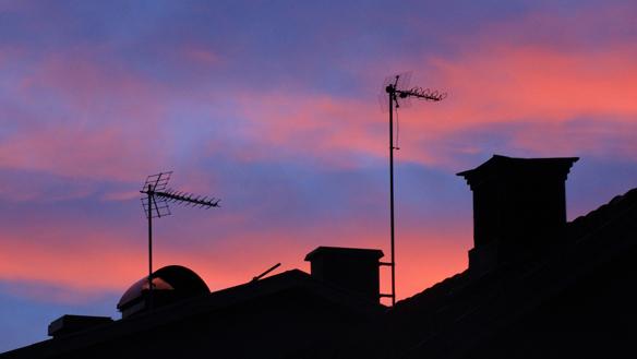 Solnedgång. Foto: Peter Ahlborg