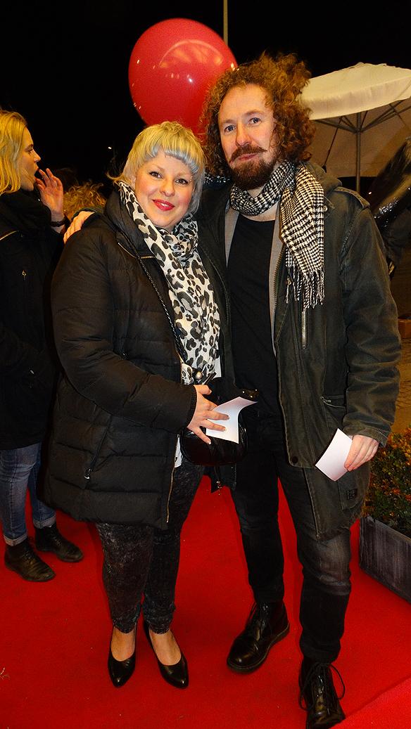 Filmaren Kristian Söderström kom till Faktumgalan tillsammans med sin fru Alexandra. Foto: Peter Ahlhorg