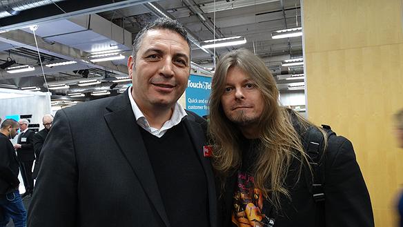 Peter Ahlborg och Amjad Aloul tillsammans på  Mediedagarna i Göteborg.