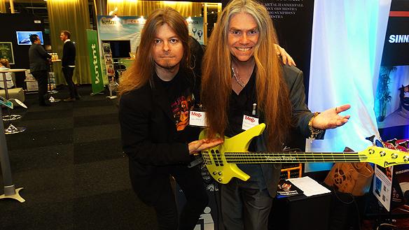Peter Ahlborg och Magnus Rosén två musiker med  stora mål med musiken, här tillsammans på Mediaedagarna  2015.