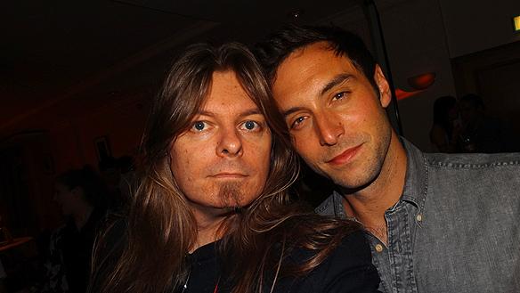 Peter Ahlborg tycker att Måns Zelmerlöw var en  värdig vinnare av Melodifestivalen 2015. Här är de  tillsammans på efterfesten när Melodifestivalen hölls i  Göteborg 6 februari 2015.