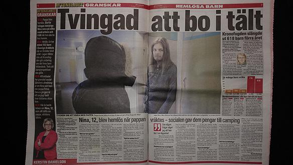 Hela artikeln i Aftonbladet som publicerades 1 augusti 2010. Foto: Peter Ahlborg