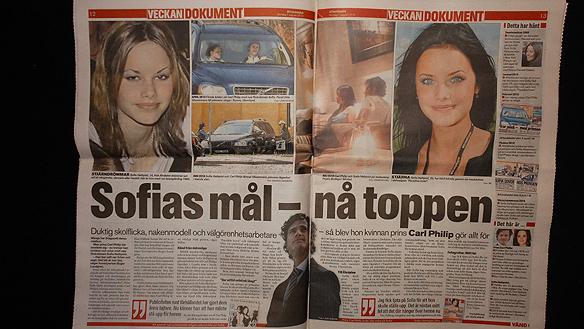 Den 1 augusti 2010  uppmärksammar Aftonbladet att prins Carl Philips har  bestämt sig för att satsa allt på relationen med Sofia Hellqvist. Foto Peter Ahlborg