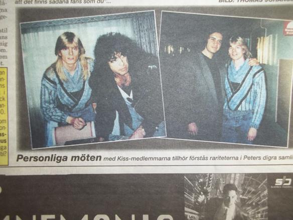 Peter Ahlborg träffar sina barndoms idoler Kiss för första gången 1988 på Sheraton hotell i Stockholm. Nu kan det bli en repris när Kiss besöker Europa och Sverige i maj 2016.