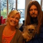 Peter Ahlborg och söta vovven Fia mötte Faktums chefredaktör Sarah Britz