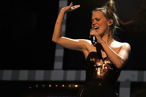 """Ace Wilder fick vidare med låten """"Don´t Worry"""". Foto: Peter Ahlborg"""