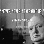 Peter Ahlborg hyllar Winston Churchill i sin nya låt Ge aldrig upp