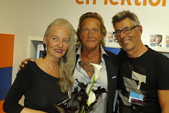 Björn Ranelid tillsammans med Elisabet Reslegård och Torgny Karnstedt 2015 års pristagare av Björn Ranelidpriset. Foto: Peter Ahlborg
