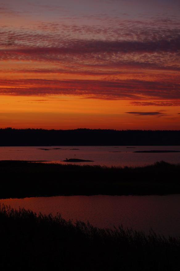 Het solnedgång i Vänersborg. Foto: Peter Ahlborg