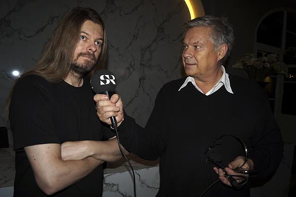Peter Ahlborg blir intervjuad av Hasse Andersson från Sveriges Radio Göteborg. Intervjun äger rum den 18 oktober 2016 på Clarion Hotel Post i Göteborg. Foto: Charlie Källberg