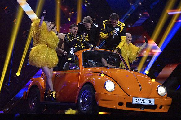 """""""Jag tror De Vet Du kan få samma framgång som Samir & Viktor när de uppträdde med sin låt """"Bada Nakna"""" som blev den största hiten från Melodifestivalen förra året, trots att de kom sist i finalen"""", säger Peter Ahlborg, om De Vet Du låt """"Road Trip"""". Foto: Peter Ahlborg"""