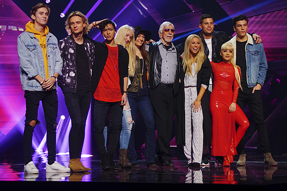 Alla tävlande i Melodifestivalen 2017 från Växjö. Foto: Peter Ahlborg
