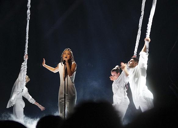 """Mariette gick vidare till final i Melodifestivalen med sin låt """"A million years"""". Foto: Peter Ahlborg"""