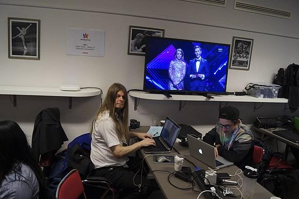 Peter Ahlborg följer Melodifestivalen 2017 från pressrummet i Göteborg i Scandinavium. Peter skriver för tidningen Faktum om Melodifestivalen.