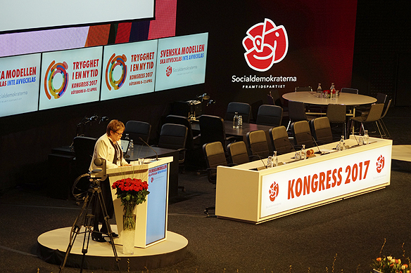 Socialdemokraternas kongress 2017 i Göteborg. Foto: Peter Ahlborg