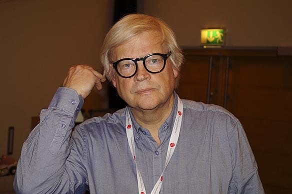 Thomas Nordegren, journalist och producent för radio programmet Nordegren & Epstein bevakade Socialdemokraternas partikongress i Göteborg. Foto: Peter Ahlborg
