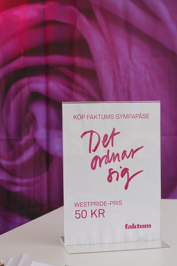 """""""Det ordnar sig"""" Köp Faktums fina gympåse – West Pride pris endast 50 kronor. Foto: Peter Ahlborg"""